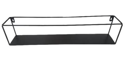 Industriële wandrek XL DANA - Zwart - 60 x 10 x 13 cm
