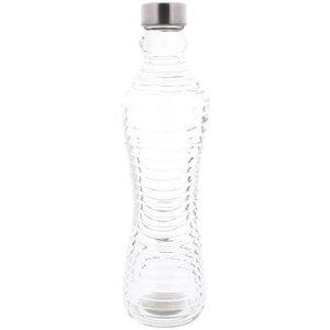 Waterfles ZANDER - Glas / RVS - h 31 cm