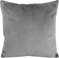 Sierkussenhoes Velours GIOVANNI - Grijs - 45 x 45 cm - Polyester