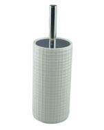 WC borstel - Keramiek - Wit - Blok Motief