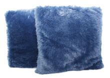 Red Hart - Fluffy kussenhoes - Blauw