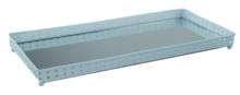Red Hart - Decoratie tray / dienblad met spiegel - Blauw - 39.5x18x3cm