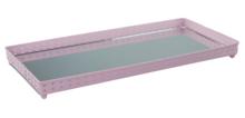 Red Hart - Decoratie tray / dienblad met spiegel - Roze - 39.5x18x3cm