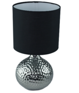 Red Hart - Gehamerd - Tafellamp - zwart