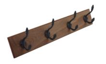 Red Hart - Kapstok - Bruin - Hout/metaal - 55x10cm - Wandkapstok