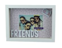 Red Hart - Fotolijst Friends - Wissellijst - Wit - Hout motief - 13x18cm