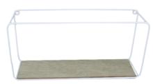 Industriele wandrek Dorothea (Maat M) - Hout/Metaal - Wit - 35.5x17.5x9.5cm