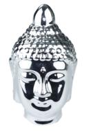 Red Hart - Beeld boeddha hoofd Ramesa - Zilver - 18 cm