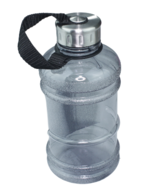 Red Hart - Waterfles 1L  - Zwart / Zilver - Kunststof - Drinkfles