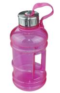 Red Hart - Waterfles 1L  - Roze / Zilver - Kunststof - Drinkfles