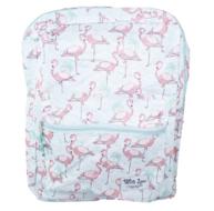 Rugzak Flamingo - Roze/Wit/Groen - Groot - Kunststof