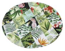 Red Hart - Decoratie bord met blad/dieren motief - Multicolor - Ø33cm