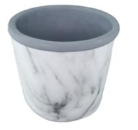 Bloempot marmer Seto - Ø18 x h16cm