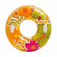 Intex zwemband oranje met bloemen - Ø 97 cm