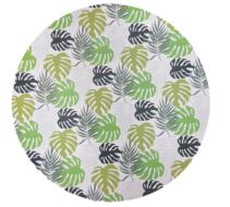 Decoratie bord met blad motief - Multicolor - Ø40cm