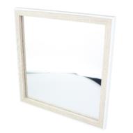 Spiegel Allard - Wit/Bruin - Hout - 30x30cm - Vierkant - Wandspiegel