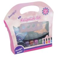 Nagellak set geschenkverpakking - 5 delig - Teenspreider - Stickers - Glittertjes