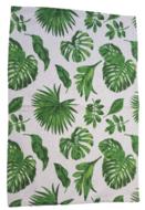 Vloerkleed blad motief - Bruin / Groen - 60x90cm - Tapijt