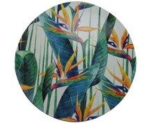 Decoratie bord met blad motief - Multicolor - Ø33cm