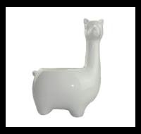 Lama / Alpaca Bloempot - Wit - Keramiek