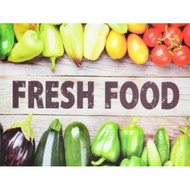 Snijplank Fresh Food Vegetables - Multicolor - Glas - 30 x 40 cm