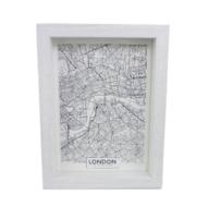 Fotolijst met diepe lijst GEMMA - Wit - Box frame - 13 x 18 cm