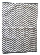 Vloerkleed Zigzag - Zwart / Wit - 60 x 90 cm - Tapijt