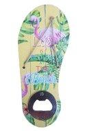 Flessenopener met tropische print Kaketoe - Multicolor - Hout - 18 x 7.5 cm
