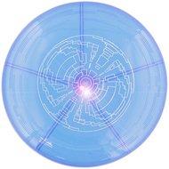 Frisbee met led verlichting - Blauw - Kunststof - Ø 23 cm