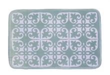 Badmat met motief JUUL - Groen / Wit - 45 x 70 cm