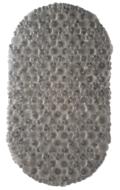 Rubberen Antislip Douchemat MAIKEL - Grijs - 38 x 67 cm - Badmat